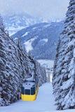 De de skitoevlucht van bergen zell--ziet Oostenrijk Stock Fotografie