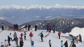 De de skiwinter Jasna Europa van Slowakije van de sneeuwberg stock video
