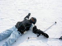De de skiwinter van het meisje Royalty-vrije Stock Afbeeldingen