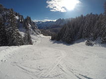 De de sneeuwwinter van alpen Royalty-vrije Stock Fotografie