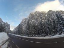 De de sneeuwwinter van alpen Stock Afbeelding