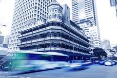 De de stadsbouw van Brisbane Stock Foto