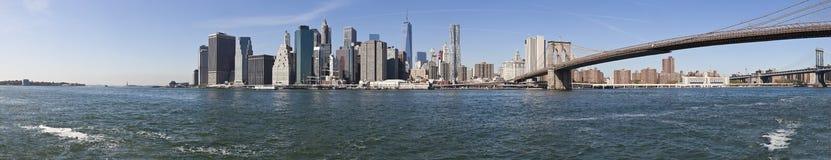 De de Stadshorizon w brug-extra groot Brooklyn van New York Royalty-vrije Stock Afbeeldingen