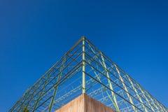 De Structuur van het Kader van het Staal van de hoek Stock Foto