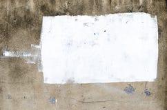 De de textuurachtergrond van de Grungemuur met retangle witte verf voor voegt toe stock afbeeldingen