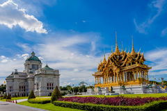 De de Troonzaal van Anantasamakhom is beroemd oriëntatiepunt in Bangkok, Thail royalty-vrije stock afbeeldingen