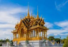 De de Troonzaal van Anantasamakhom is beroemd oriëntatiepunt in Bangkok, Thail royalty-vrije stock afbeelding