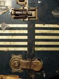 De de uitstekende Stickers en Etiketten van het Geval van de Reis Royalty-vrije Stock Fotografie