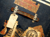 De de uitstekende Stickers en Etiketten van het Geval van de Reis Royalty-vrije Stock Foto