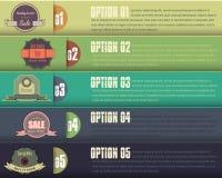 De de vector Banner & Kaart Opties van de Achtergrond van het Aantal Royalty-vrije Illustratie