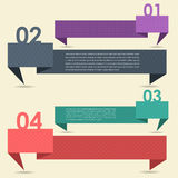 De de vector Banner & Kaart Opties van de Achtergrond van het Aantal