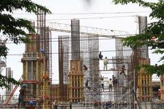 De de Verdiepingsbouw van de arbeidersveiligheid Project Stock Afbeelding
