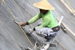 De de Verdiepingsbouw van de arbeidersveiligheid Project stock foto's