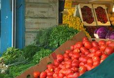 De de verkopende vruchten en groenten van de kruidenierswinkelopslag Stock Afbeelding