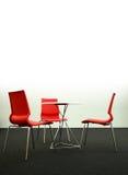 De de verticale stoelen en lijst van het ontwerp, stock afbeeldingen