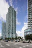 De de voorraadfoto van de binnenstad van Miami Florida Royalty-vrije Stock Fotografie