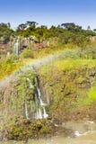 De de watervallen en regenboog van Iguazu royalty-vrije stock foto
