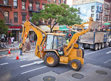 De de wegwerken van New York Stock Afbeeldingen