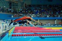 31 07 2017 - 07 08 2017 de 15de Wereld Junior Championships van Finswimming |Tomsk Royalty-vrije Stock Afbeeldingen