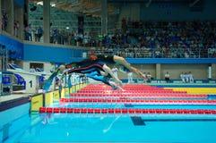 31 07 2017 - 07 08 2017 de 15de Wereld Junior Championships van Finswimming |Tomsk Royalty-vrije Stock Fotografie