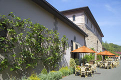 De de Wijnmakerij historische bouw van Beringerbroers in Napa-Vallei stock fotografie