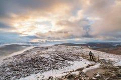 De de winterochtend op het Meerdistrict fells Stock Fotografie