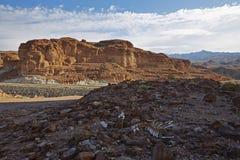 De de Woestijnscène van Gobi Stock Afbeelding