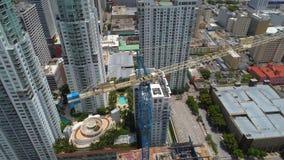 De de wolkenkrabbergebouwen van de binnenstad van Miami stock footage