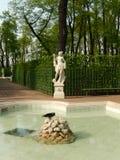 De de zomertuin in St. Petersburg Rusland Stock Fotografie