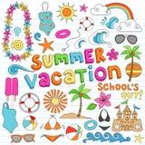 De de zomerzomer van het notitieboekje vac stock illustratie