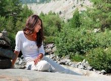 De de Zwitserse Sleep en Tiener van de Aard van de Gletsjer van Alpen Royalty-vrije Stock Fotografie