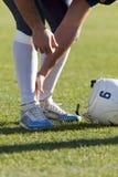 De Debutanten van de voetbal versus tussen Badalona Dracs Barbera Stock Fotografie