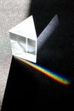 De decompositie van licht in een prisma royalty-vrije stock fotografie