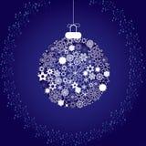De decoratie blue2 van Kerstmis Stock Foto