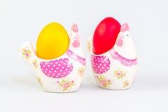 De decoratie en de eieren van Pasen Stock Foto