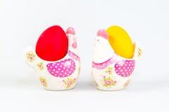 De decoratie en de eieren van Pasen Stock Afbeelding