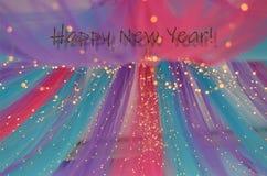 De decoratie om de aankomst van het nieuwe jaar te vieren stock foto's
