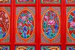 De decoratie op een deur royalty-vrije stock afbeelding