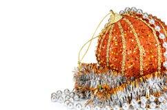 De decoratie van ballen voor Nieuwjaar en Kerstmis Stock Afbeelding