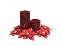 De decoratie van Cristmas candels Stock Afbeelding