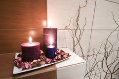 De decoratie van de badkamers stock foto