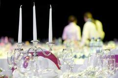 De decoratie van de de dienstlijst van de catering Stock Afbeeldingen