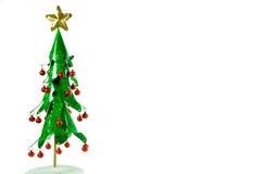 De decoratie van de de klokKerstboom van het kenwijsje. Stock Afbeeldingen