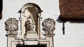 De decoratie van de deurmanier in Brugge Royalty-vrije Stock Foto's