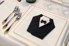 De decoratie van de eettafel royalty-vrije stock afbeeldingen
