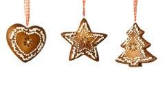 De decoratie van de gember voor Kerstmis Royalty-vrije Stock Foto's