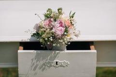 De decoratie van de huwelijksbloem Stock Foto