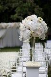 De decoratie van de huwelijksceremonie Stock Foto's