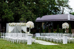 De decoratie van de huwelijksceremonie Stock Afbeelding