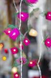 De decoratie van de kaars gloeilamp Royalty-vrije Stock Foto's